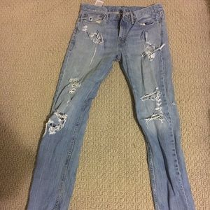 Men's Levi Distressed Ripped Jeans